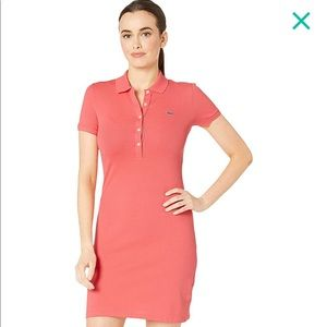 Lacoste Coral polo cotton dress size 36/Small
